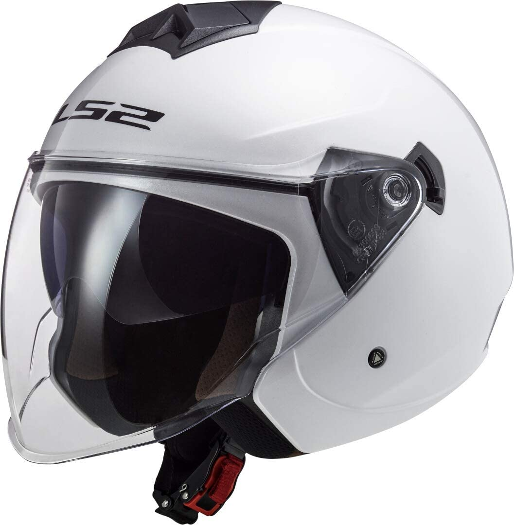 LS2 Motorradhelm OF573 TWISTER II SINGLE MONO Weiss XS Weiss