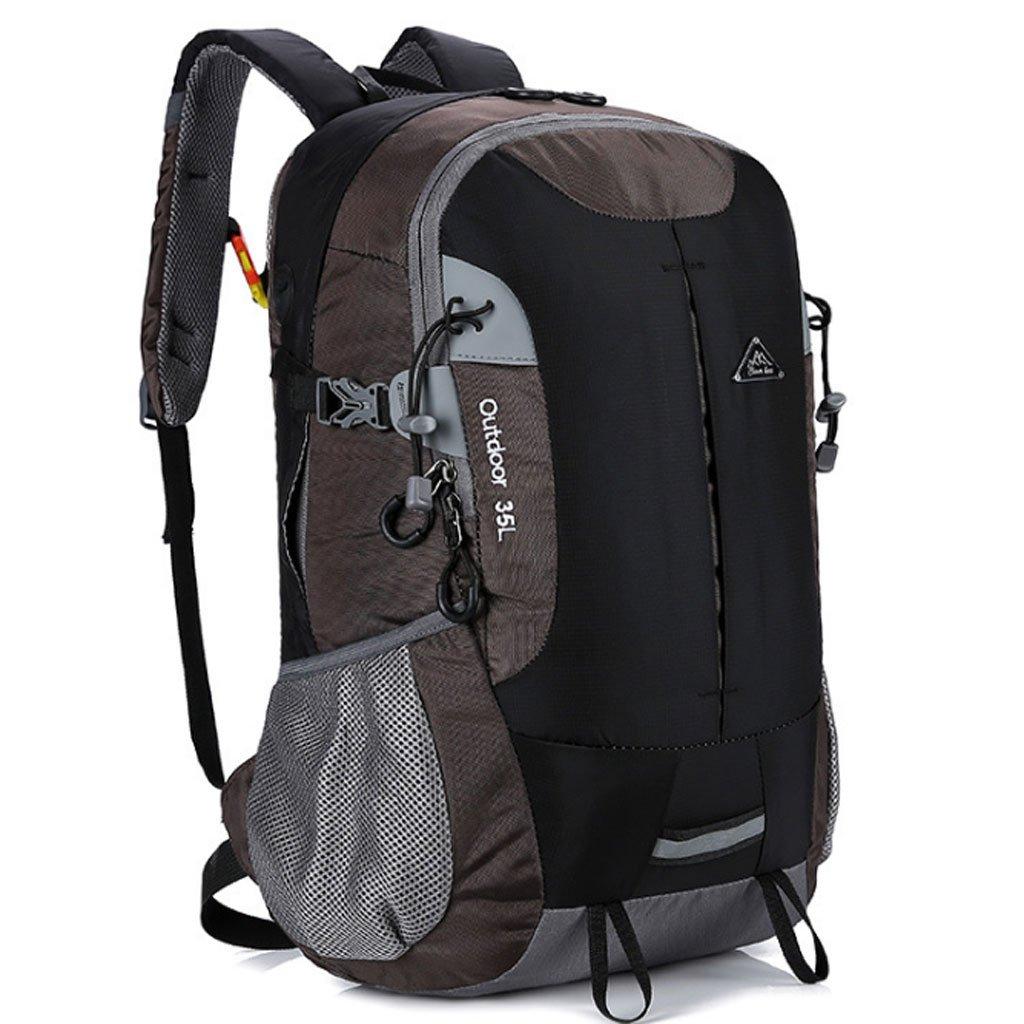 バックパック - アウトドア 登山用バッグ ハイキング バックパック 男女兼用 多機能 大容量 キャンプ ハイキング バックパック (マルチカラー展開) B07HQF6Y2Y ブラック 32*20*48cm