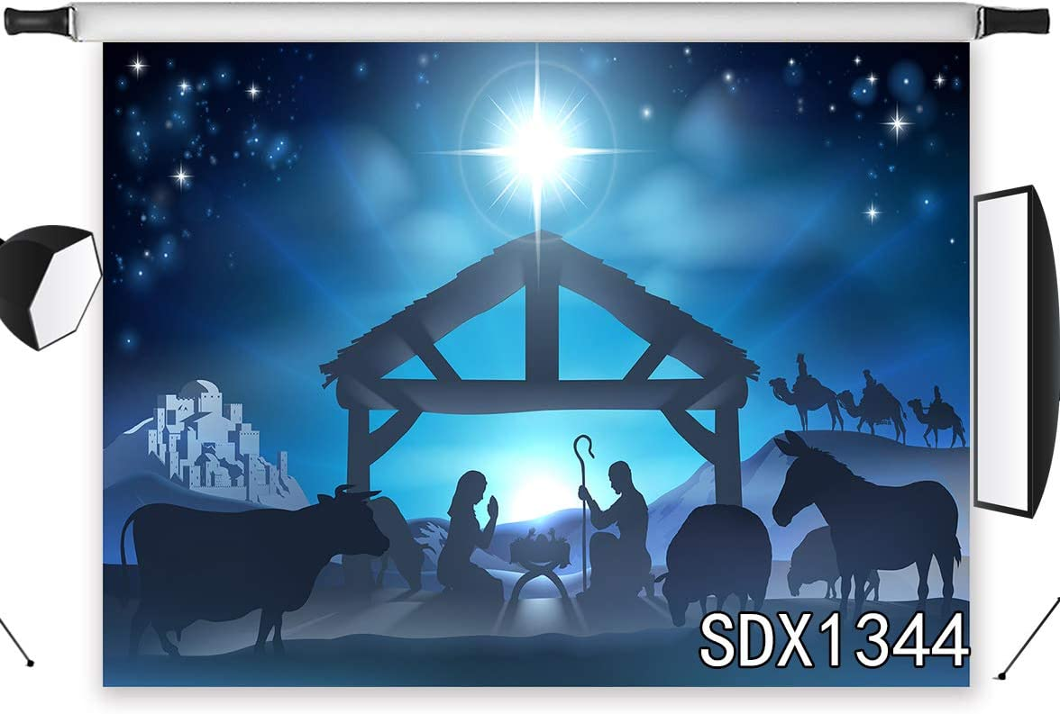 Lb 210x150cm Vinyl Geburt Jesu Hintergrund Krippe Stern Kamera