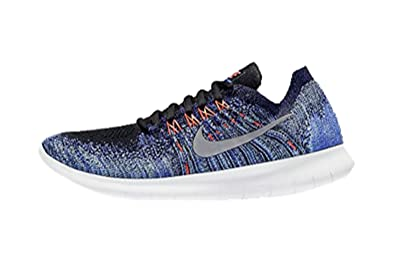 watch 9ef3f 61e76 Image Unavailable. Image not available for. Colour  Nike Womens Free RN  Flyknit 2017 (Black Persian Violet Aurora Metallic Silver