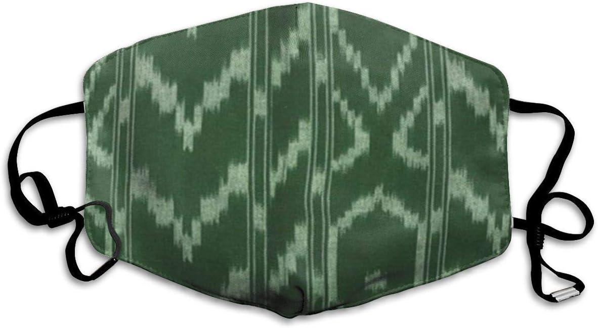Polvo Reutilizable y Lavable Colorido Contemporáneo Moderno Ikat Tribalt Verde Menta Batik