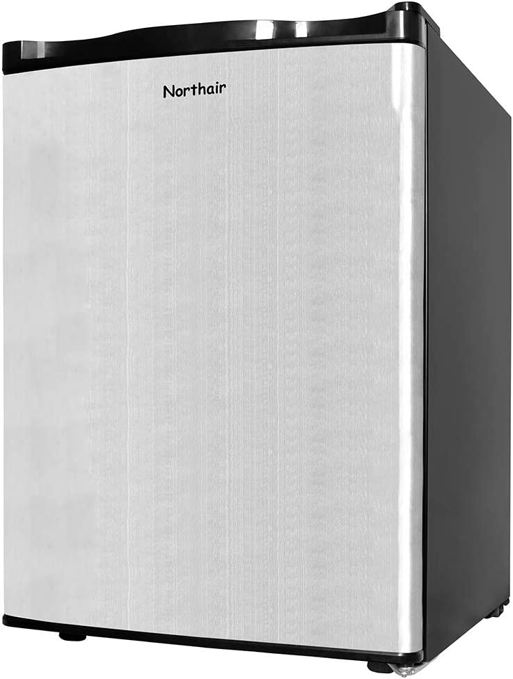 Northair Upright Freezer with 2.1 Cubic Feet Capacity, Compact Reversible Single Door Table Top Mini Freezers for Ice Cream/Breast Milk/Sea Food, Removable Shelf, Adjustable Thermostat