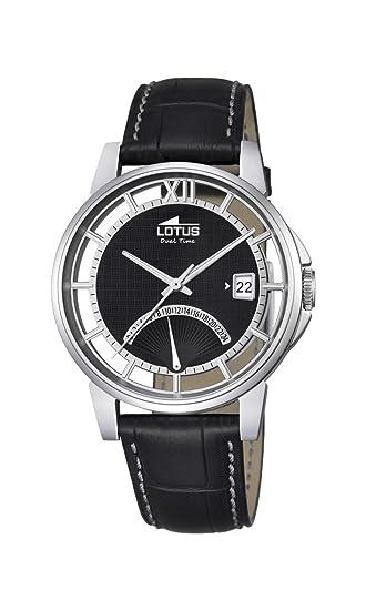 Lotus Reloj Hombre de Analogico con Correa en Cuero 18325/2: Amazon.es: Relojes