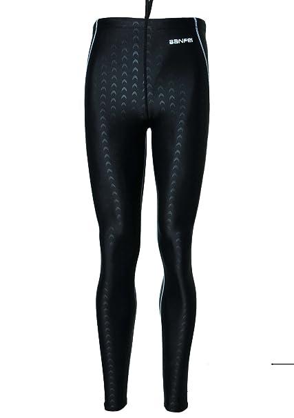 85b718fa1574 Panegy Unisex Bañador Impermeable Pantalones Largos Traje de Baño de Secado  Rápido para Hombres Mujer Competición Buceo Natación