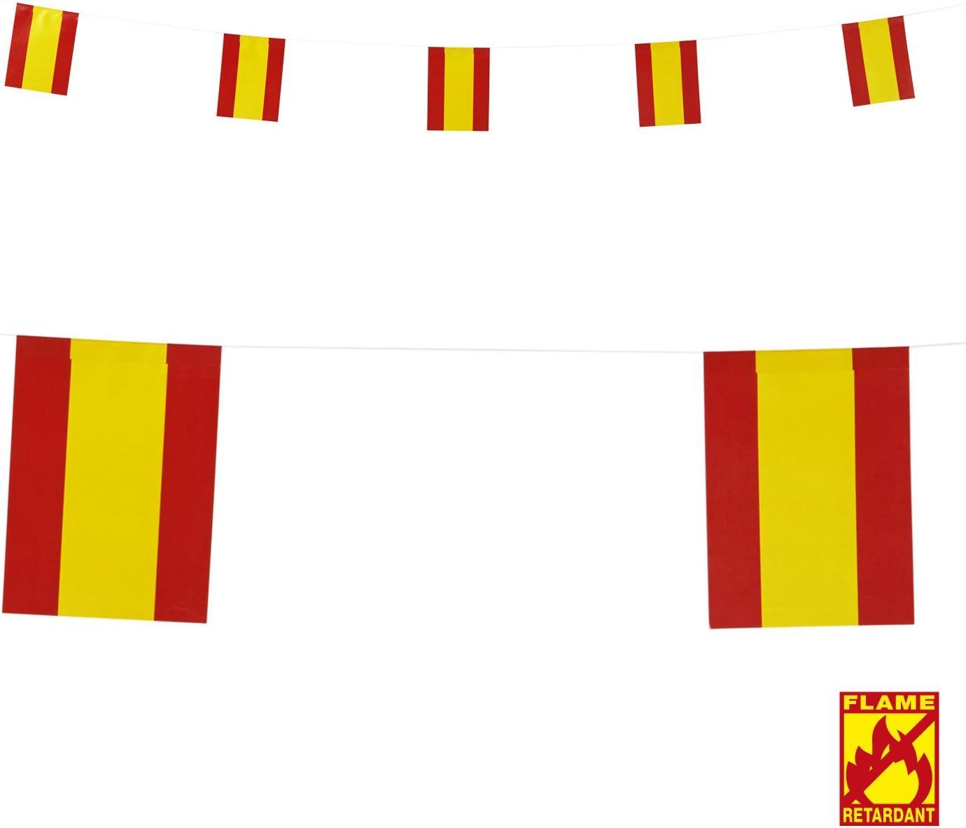 Guirnalda para colgar, diseño de banderas de España *01824: Amazon ...