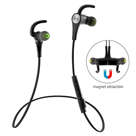 621a3c16432 Bluetooth Headphones SoundPEATS Q12 Bluetooth Headphone 4.1 Magnetic In-Ear  Wireless Sport Stereo Waterproof Headset Earbuds with Built-in Mic for ...