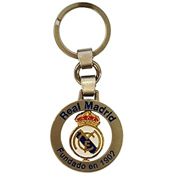 Real Madrid - Llavero Giratorio Escudo (Llavero): Amazon.es ...