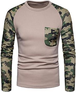 Abrigo para hombre con parches LULUZANM Camisas de manga larga Camisas Camuflaje Slim Fit Camisa Tops Blusa playera: Amazon.es: Bricolaje y herramientas