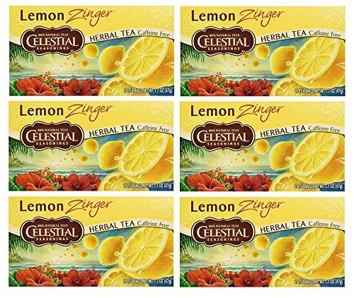 Celestial Seasonings Lemon Tea - Celestial Seasonings Herbal Tea, Lemon Zinger,(6 Pack)
