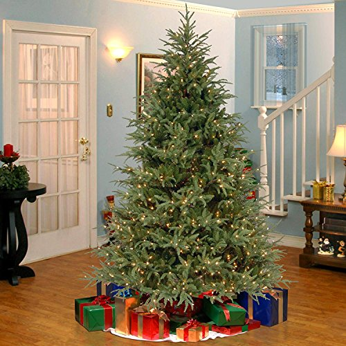7.5' Pre-Lit Frasier Grande Artificial Christmas Tree - Dual Color LED Lights (Christmas Tree With Dual Lights White And Multicolored)