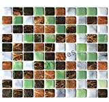 "kitchen backsplash ideas  Peel and Stick Self-Adhesive DIY Backsplash Stick-on Vinyl Wall Tiles for Kitchen and Bathroom Décor Projects, Pebbled Glitter Stone, Item# 91010849, 10"" X 10"" Each, 6 Sheets Pack"
