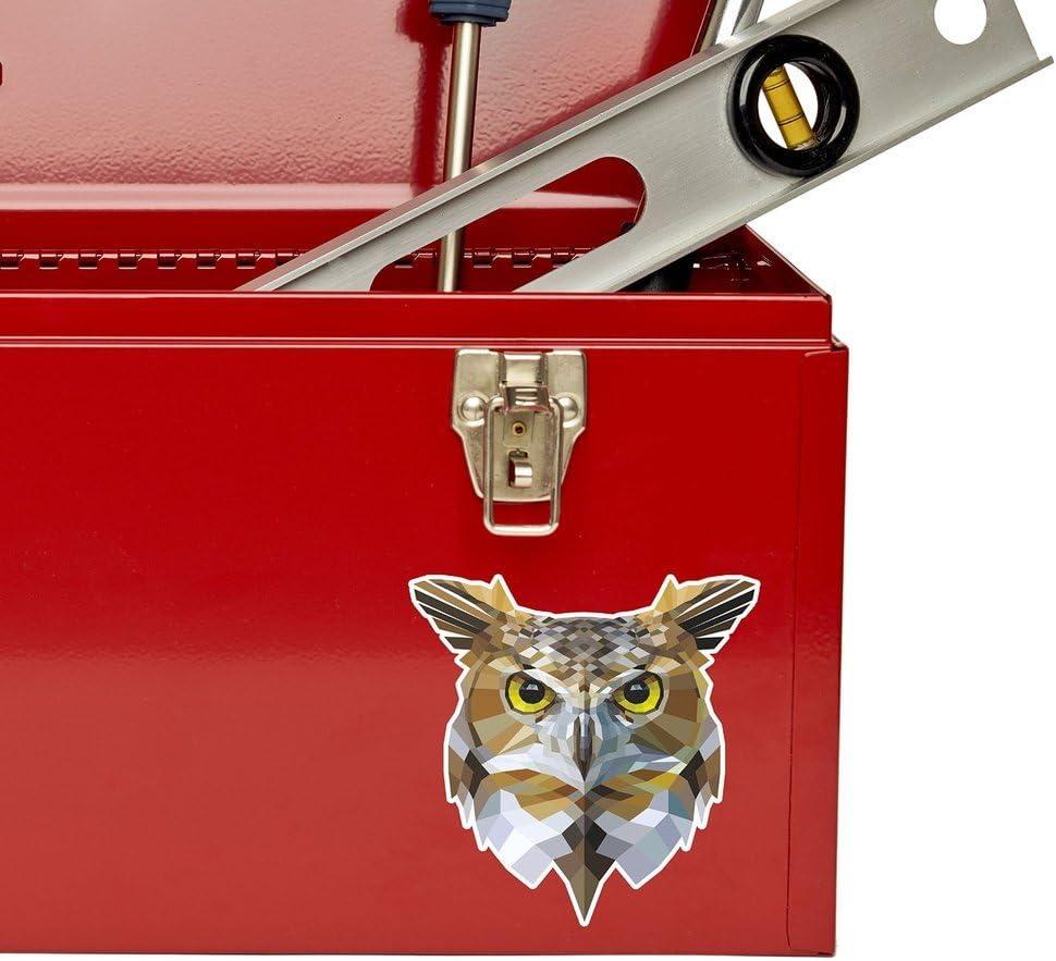 2 x 10cm//100 mm Il Gufo astratto Vinile adesivo STICKER ADESIVO da viaggio per portatile auto bagagli segno Fun #6674