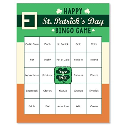 picture regarding St Patrick's Day Bingo Printable known as St. Patricks Working day - Saint Pattys Working day Social gathering Bingo Video game Bar Bingo Recreation Playing cards - 16 Depend