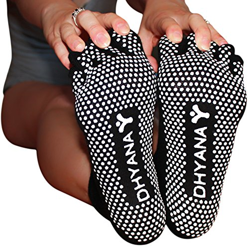 Luxury Yoga Toe Socks for Women By Dhyana - S/M Size - Bonus Videos