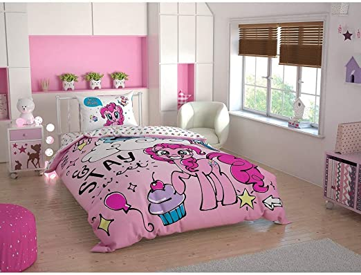 Twin Size//Single Duvet Cover Set 3 pcs 100/% Cotton Beding Linens for Kids Children Rapunzel