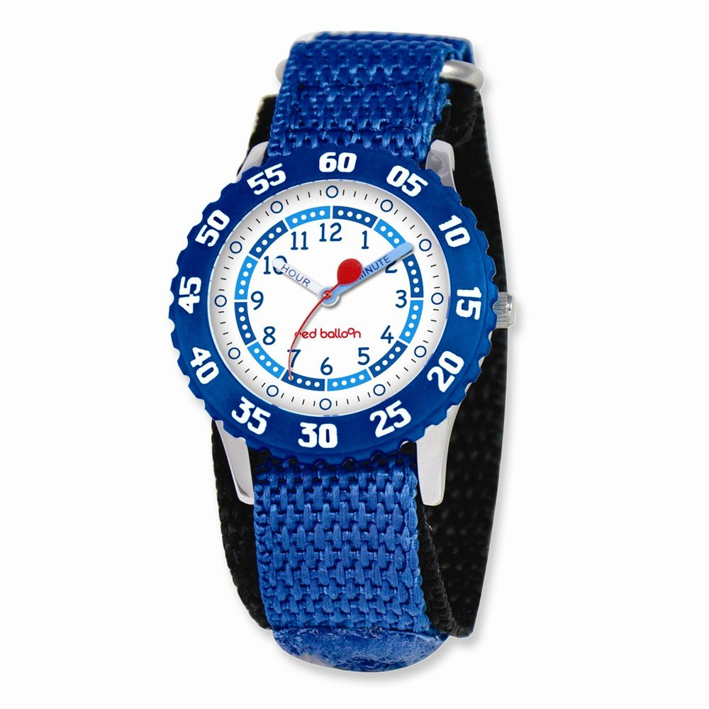 Red Balloon Kids Blue Velcro Band Time Teacher Watch