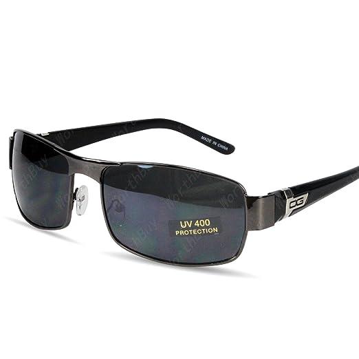 e45f75b22724 Amazon.com  DG Eyewear Mens Fashion Designer Sunglasses Shades Wrap Retro  Rectangular  Clothing
