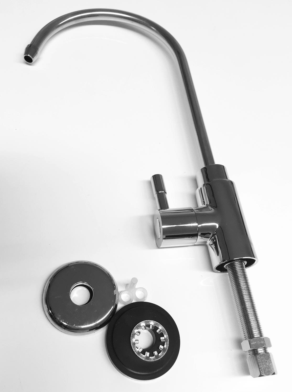 Pure ONE filtro grifo | la ósmosis inversa para su lavabo en plata | la grifo mezclador monomando para sus ósmosis y Ósmosis Inversa equipo, ...
