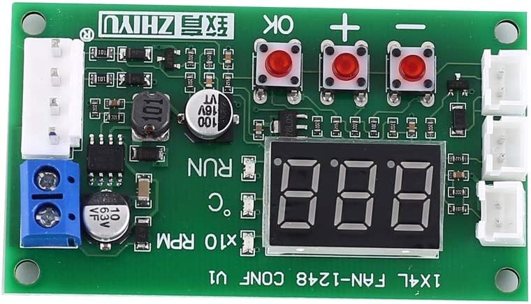 M/ódulo Controlador PWM DC 12V 24V 48V M/ódulo De Visualizaci/ón Del Regulador De Velocidad De Controlador De Temperatura De Ventilador De 4 Hilos Para PC Ventilador//alarma