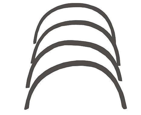 R.S.N. 385 para pintar, rueda arcos, Fender tapacubos extensiones, para óxido