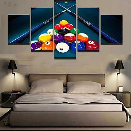 CXDM Moderno Art º Pintura 5 Paneles Pool De Billar Pintura Billar ...