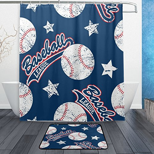 All MLB Shower Curtains