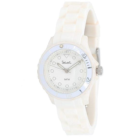Select Lw-30-01 Reloj Analogico para Mujer Caja De Resina Esfera Color Blanco: Amazon.es: Relojes