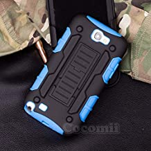 Galaxy Note 2 Case, Cocomii Robot Armor NEW [Heavy Duty] Premium Belt Clip Holster Kickstand Shockproof Hard Bumper Shell [Military Defender] Full Body Dual Layer Rugged Cover Samsung N7100 (Blue)