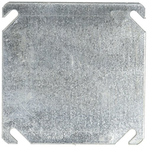 (Hubbell-Raco 8752-5 Flat Blank Square Cover, 4-Inch)