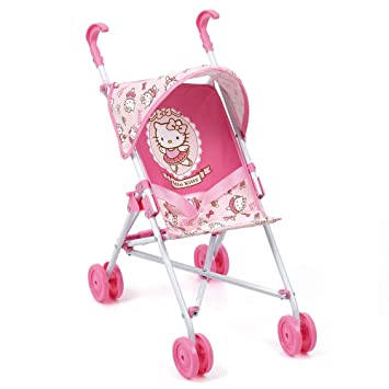 Hello Kitty Hauck Toys for Kids Puppenbuggy Puppenwagen Go-S mit Sonnenverdeck