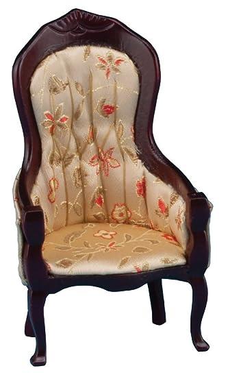 Classics Puppenhaus Viktorianisch Sofa Mahagoni mit Blumenmuster Stoff