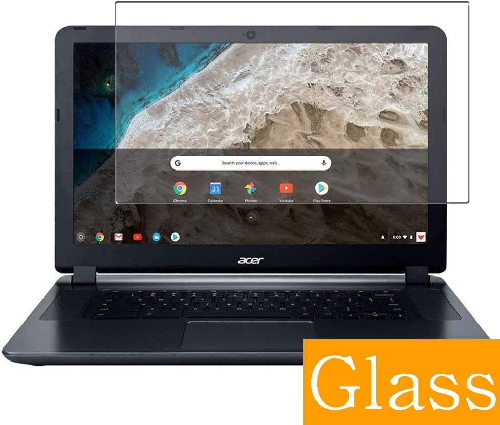 """Synvy Tempered Glass Screen Protector for 2018 Acer 15.6"""" Chromebook 15 CB3-532-C8DF Visible Area Protective Screen Film Protectors 9H Anti-Scratch Bubble Free"""