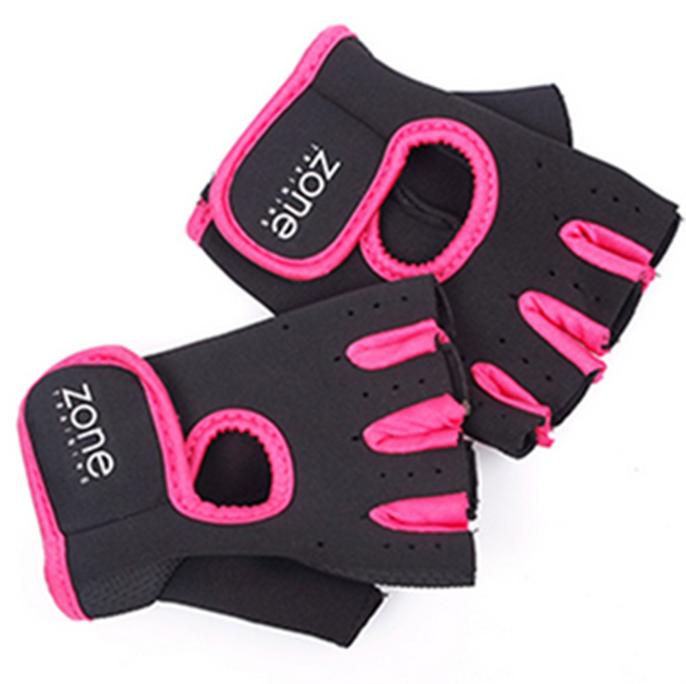 SaySure - 1 Pair Weight Lifting Leather Padded Gloves Fitness B00U103YSO Zubehr & Gerte Ausgezeichnete Funktion