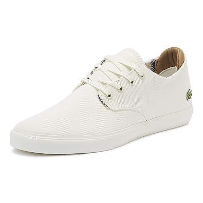 4cd21e9cdb1d Lacoste Esparre 219 1 Mens Off White Trainers: Amazon.co.uk: Shoes ...