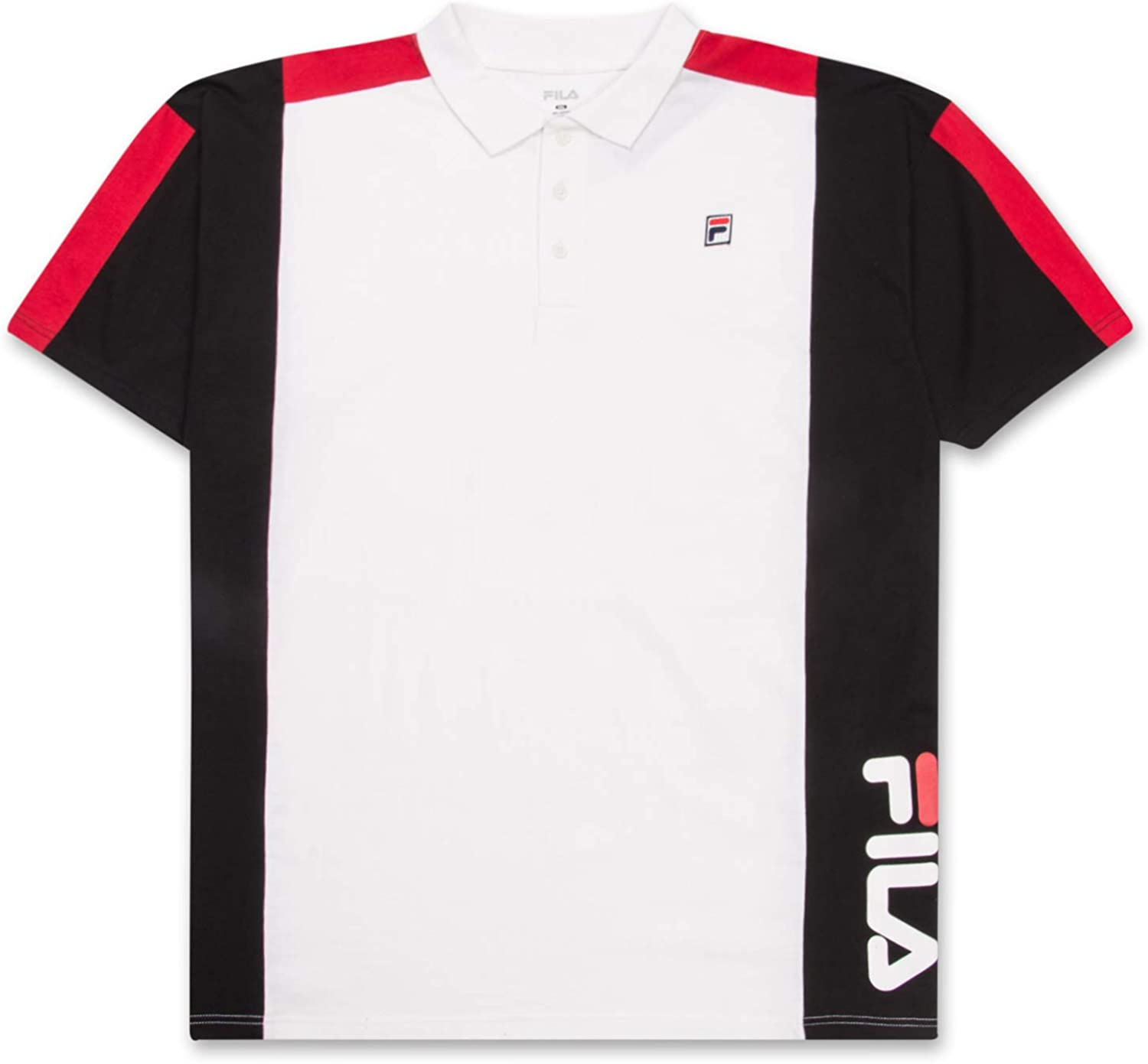 Fila Big and Tall Shirts for Men Cotton Polo Shirt Performance Short Sleeve Golf Polo