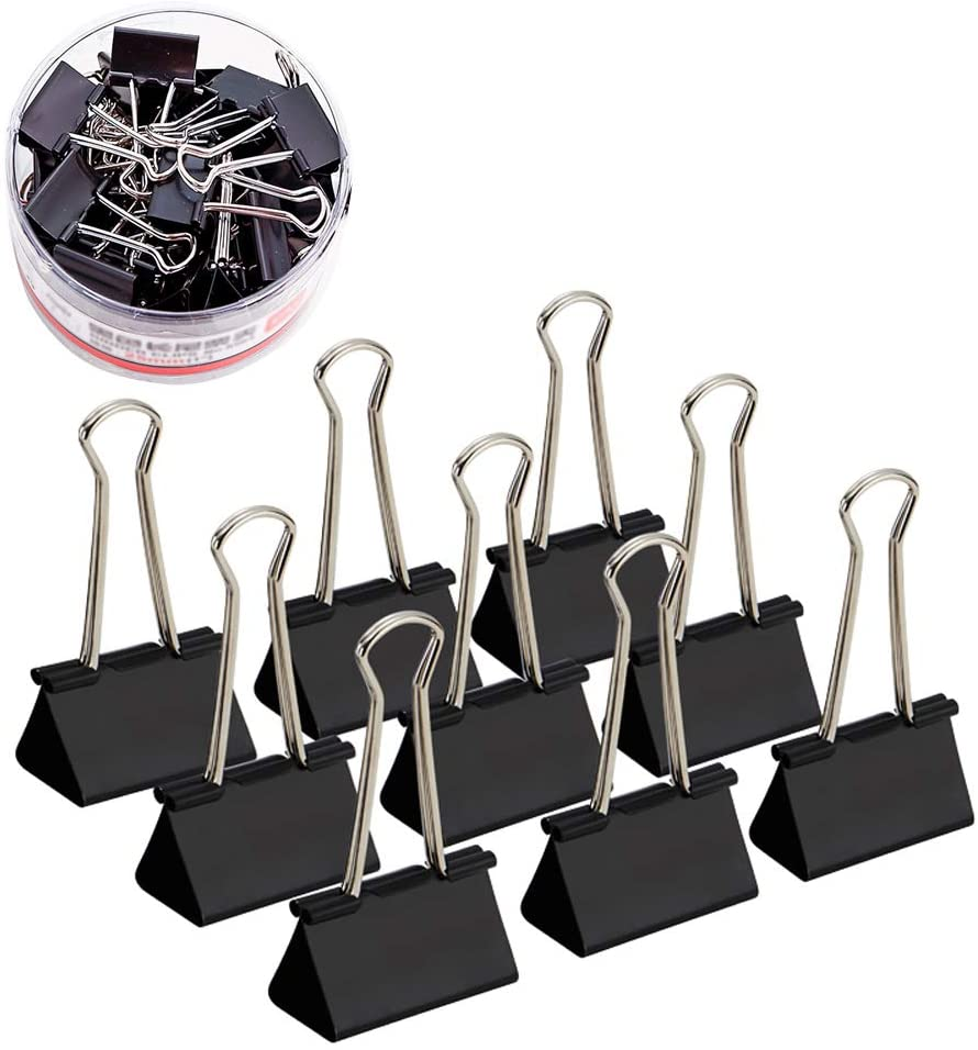 3,2/cm Metallo Bulldog clip confezione da 20 Black