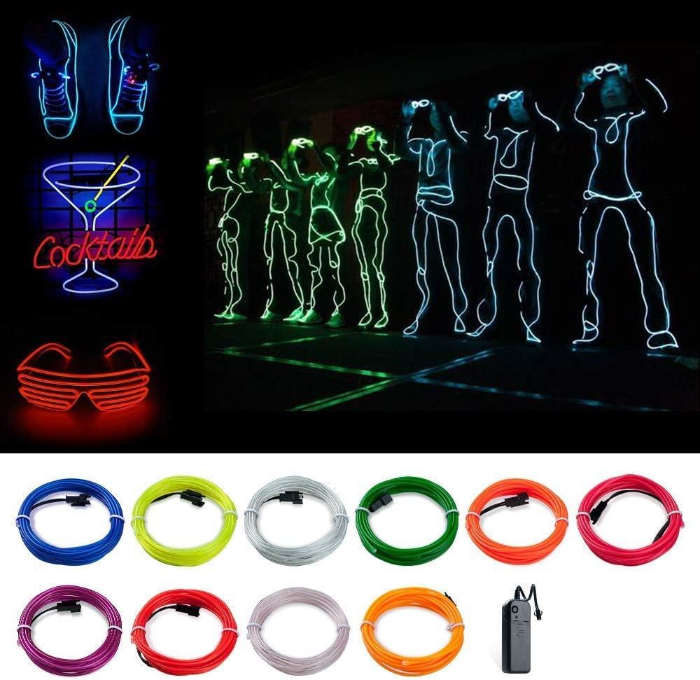 Imperm/éable pour Int/érieur Rose, 5 COVVY Guirlande Lumineuse LED 3 Modes /Éclairage avec t/él/écommande Neon Flexible Lumineux D/écoration /à Piles pour F/ête//No/ël//Anniversaire//Soir/ée//Mariage