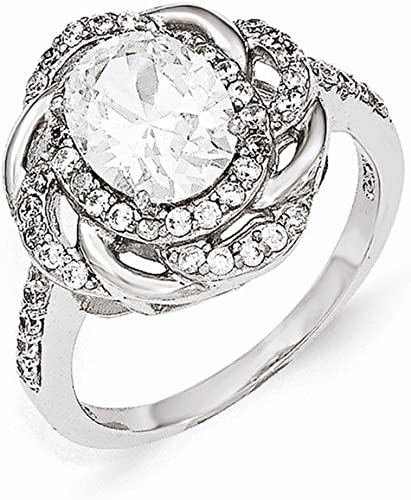 Cheryl M Sterling Silver CZ Fancy Ring Size 6