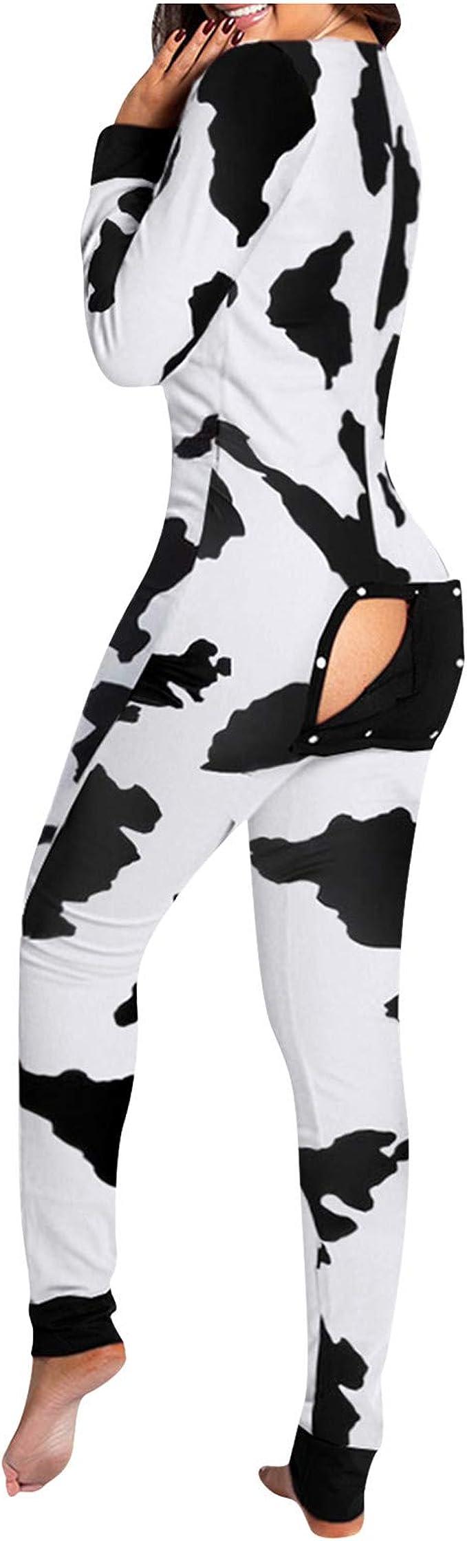 AODONG Pajamas for Women,Womens Pajamas Deep V Jumpsuit Bodycon Onesie Rompers Sleepwear