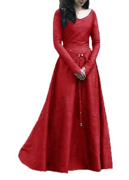 Mujer Primavera Y Otoño Medieval Renacimiento Disfraz De