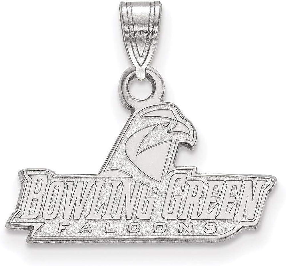Lex /& Lu LogoArt Sterling Silver Bowling Green State University Small Pendant LAL145869