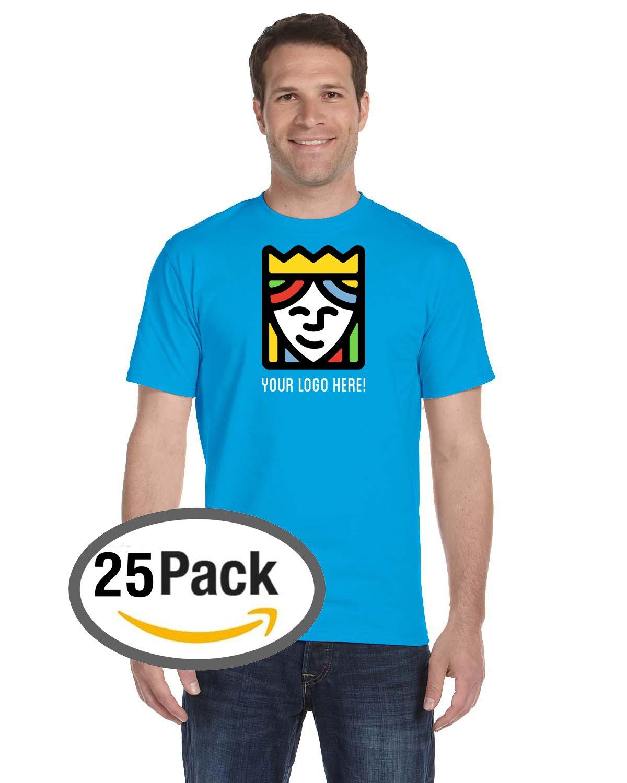 Custom Printed Gildan DryBlend T-Shirts – Pack Of 25 by Queensboro Shirt Company