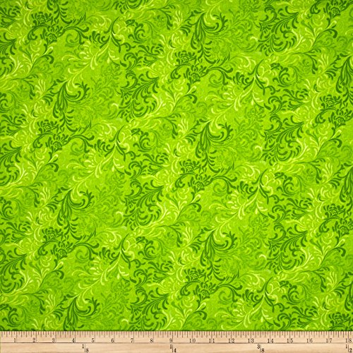 - Wilmington Prints Essentials 108in Wide Quilt Back Flourish Lime Fabric By The Yard