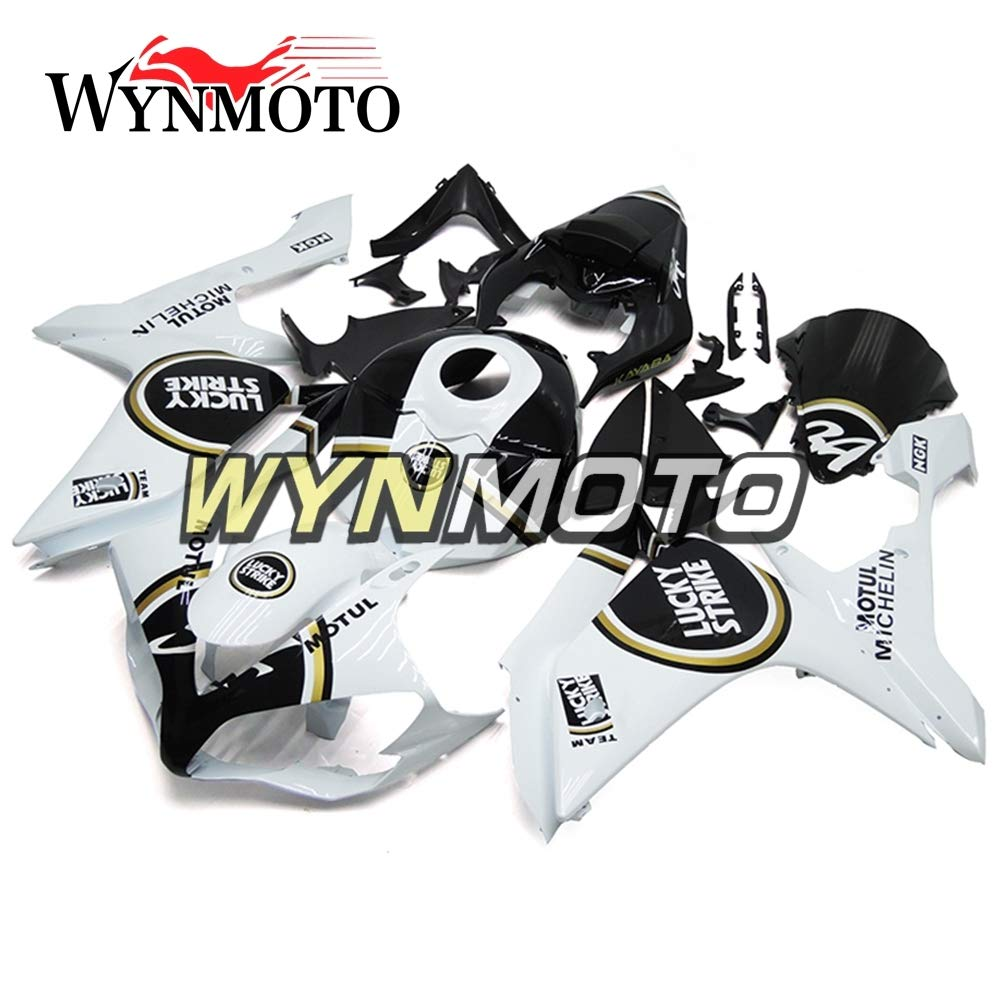 WYNMOTO ホワイトブラックカウ外装パーツセットヤマハ r1 YZF1000 r1 2007 2008 ボディキット   B075K3VDK8
