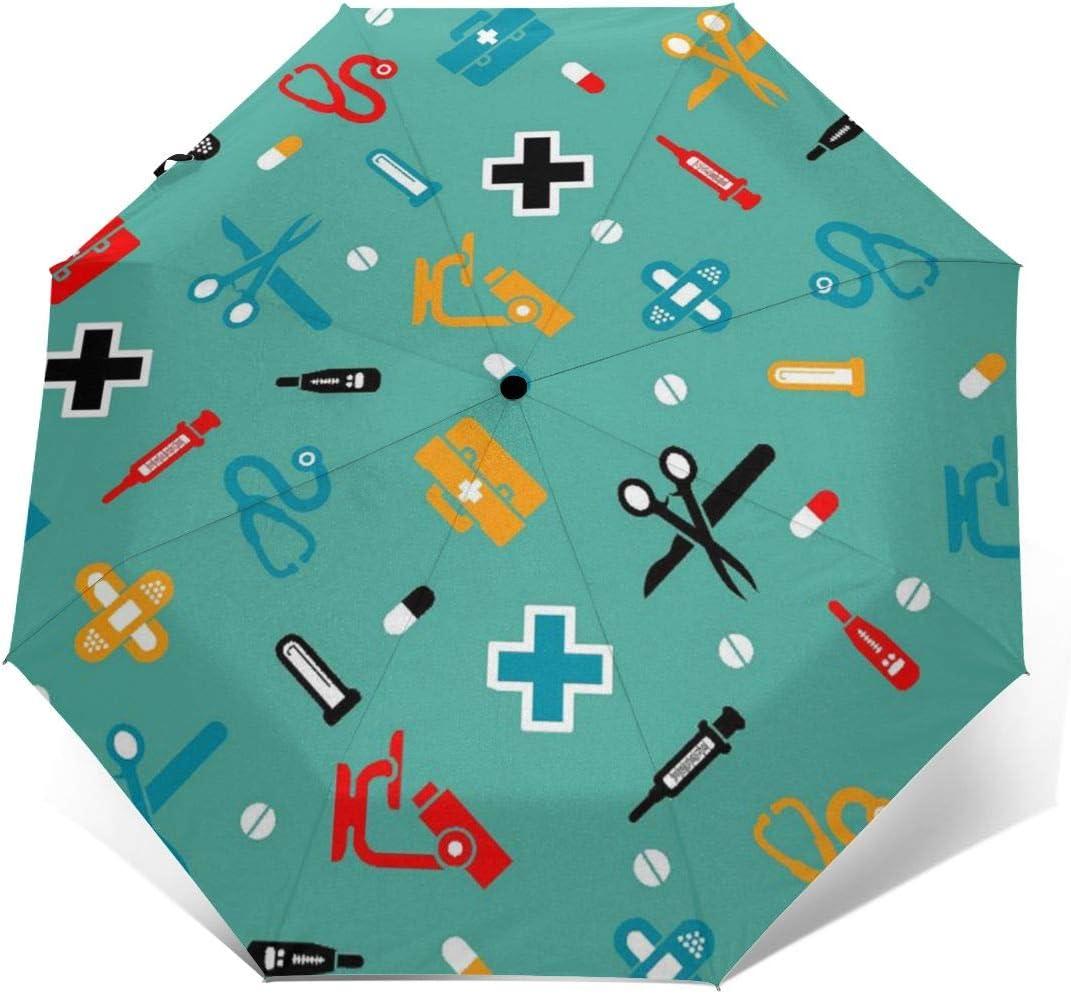 Dental Dentist Automatic Tri-Fold Umbrella Parasol Sun Umbrella Sunshade
