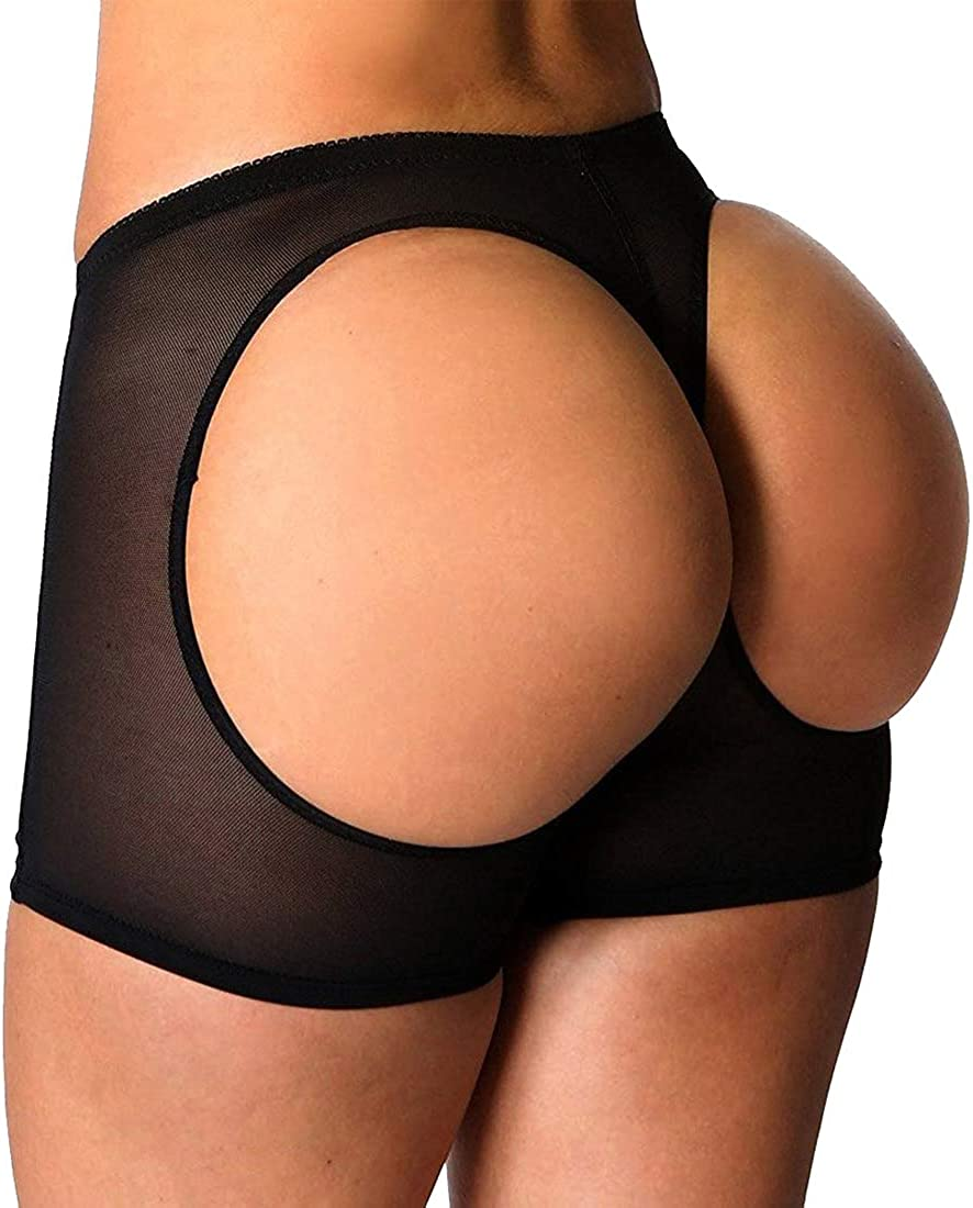 FUT Womens Butt Lifter Underwear Lace Boyshort Enhancer Panties Body Shaper