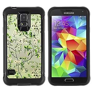 Suave TPU GEL Carcasa Funda Silicona Blando Estuche Caso de protección (para) Samsung Galaxy S5 V / CECELL Phone case / / Positive Happy Flowers Focus Green /