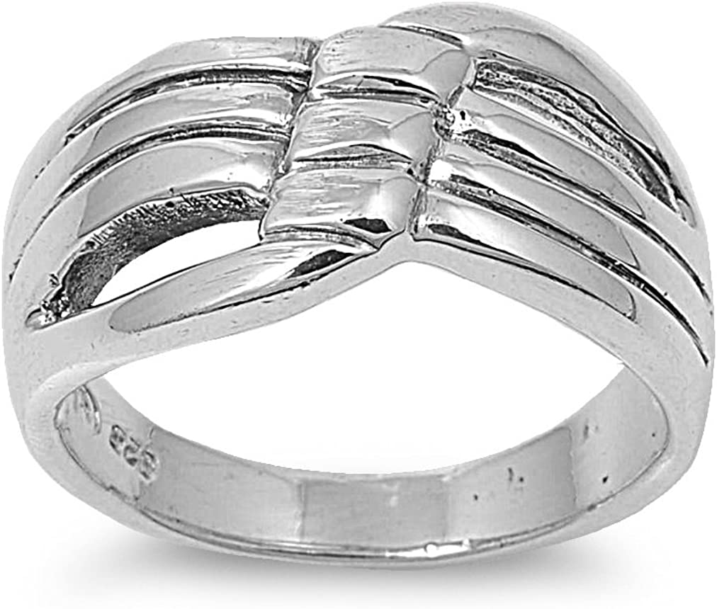 925 Sterling Silver Plain Fashion Ring