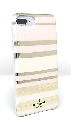 new style 07082 e6d21 Kate Spade New York Capri Stripe Protective Rubber Case for iPhone 8 Plus /  iPhone 7 Plus / iPhone 6 Plus - Gold/Cream