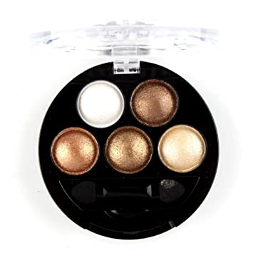 Amazon.com : Mallofusa 5 Colors Eye Shadow Powder Metallic Shimmer ...
